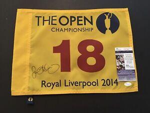 RORY MCILROY Signed Authenic 2014 BRITISH OPEN Flag *JSA COA
