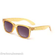 Mens Ladies Unisex Glitter Sunglasses Shades Retro Festival Party UV400