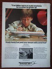 2/1982 PUB MCDONNELL DOUGLAS DC-10 AIRLINER MODEL PETE CONRAD ORIGINAL AD