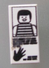 LEGO 3069bpx35 @@ Tile 1 x 2 Hand Print Striped Shirt Pattern @@ 6332 6598 6636