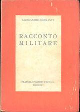 Alessandro Bonsanti: Racconto militare Parenti,  1937