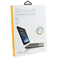 Genuine ZAGG Slim Book Bluetooth Keyboard Folio Case Cover For iPad Air 2