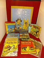 12 Rin TinTin Tin Tin Collectibles Lot Puzzle Books Comic Coloring Books Record