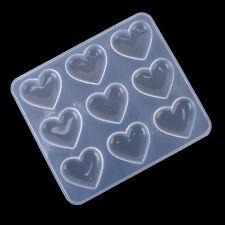 Resina stampo gioielli fai da te in silicone a forma di cuore artigianale CRIT