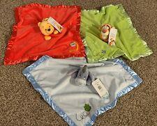 Disney Baby Security Infant Blanket Set of 3: Pooh, Eeyore & Tigger Lovey Soft
