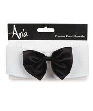 Aria Dog Puppy Satin Royal Bowtie Fancy Neckwear Costume Black Small 8-11