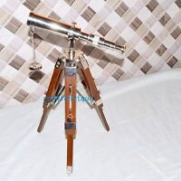 Marine Navy Nautical Brass Telescope With Tripod Stand Handmade Vintage styleIde