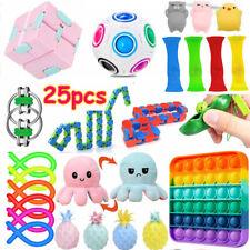 26pc Fidget Sensory Toy Set Autism ADHD SEN Pop It Stressabbau Spielzeug Sets DE