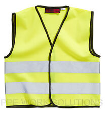 Baratec Yellow Hi Viz High Visibility Childrens Kids Vest Waistcoat - Ages 4-12