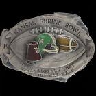 Shrine Shriners Bowl Football Game Championship KS 90s 1993 NOS Vtg Belt Buckle