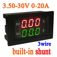 3.5-30V 20A DC Digital LED Voltmeter Ammeter Amp Volt Meter 12V 24V CAR Battery