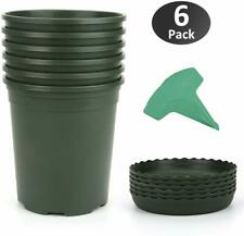 Growneer 6-Pack 1 Gallon Nursery Pot Garden Flower Pots, Nursery Plant Container