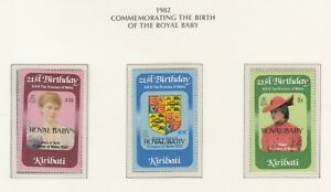 Kiribati 1982 Birth of the Royal Baby set of 3 stamps  MUH. Going Cheap