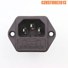 IEC320 C14 male AC power socket cod inlet receptacle connector 250V/10A CCC x2
