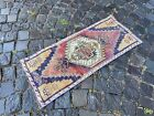 Vintage from 1950s, %100 wool handmade Turkish vintage rug   1,5 x 3,2 ft