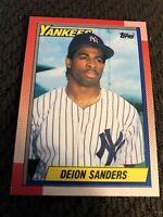 1990 Topps Deion Sanders Rookie Card #61 Baseball Card. New York Yankees
