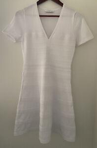 sandro paris white knit dress