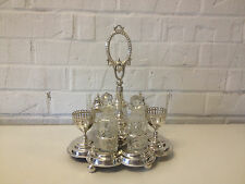 Vintage Antique Silver Plated Likely English Silver Plated Cruet Faded Hallmark