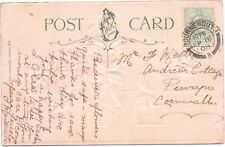 Bournemouth 1908 Double Circle Postmark Postcard Easter Wishes From Maidment