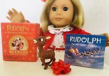 "Handmade Matilda Jane MJ 18"" American Girl Doll Musical Chairs Dress Christmas"
