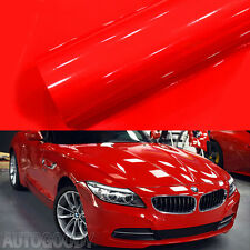 "12"" x 60"" Super Gloss Red Vinyl Film Wrap Sticker Air Bubble Free 1ft x 5ft"