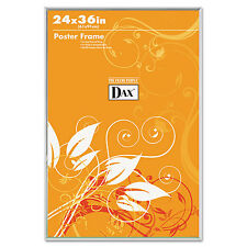 Dax U-Channel Poster Frame Contemporary Clear Plastic Window 24 x 36 Clear