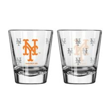NY New York Mets Satin Etched Logo Shot Glass NEW