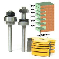 "8pc 1/4"" Shank Slot ,Assembly 6 cutters & 2 arbors  Router Bit Set sct-888"