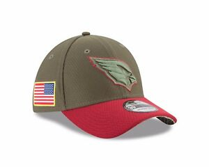 Arizona Cardinals New Era  Salute To Service 39THIRTY Flex Hat – Olive