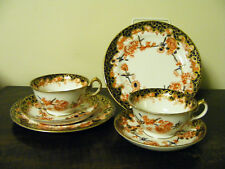 Crown  Derby  c1920's  2  Trio  Sets  Cups Saucers  & Side Plates Pattern  8439