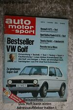 AMS Auto Motor Sport 12/78 * Opel Rallye E Kadett GT/E Suzuki GS 1000