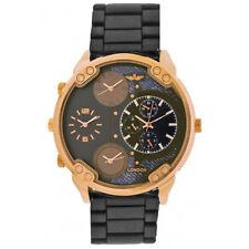 Reloj Analógico Softech Hombres Dial de Oro Rosa de Metal de arma cuatro zonas horarias Metal Cuarzo