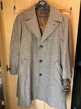 Vtg Pendleton Hipster Mod Wool Plaid Tweed Coat Jacket Trench Car Mens 46 USA
