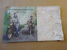 Original 1950 Harley Davidson Motorcycle Illustrated Servi-Car Envelope