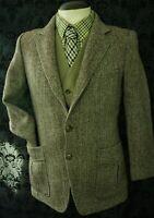 Mens Vintage Harris Tweed Norfolk Style Jacket Blazer Size Small 38 Short
