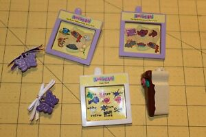 AMAZING ALLY TALKING interactive doll cartridge 6 PC hair bow cake color card