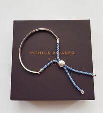 NEW Monica Vinader Bracelet Fiji Friendship Bracelet Light Blue Cord