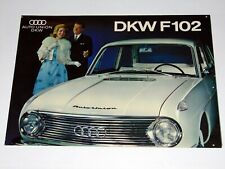 DKW Auto Union - DKW F102 - Auto Pkw Klapp Prospekt - 60er Jahre