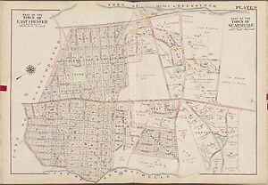 1910 EASTCHESTER WESTCHESTER COUNTY NEW YORK SCARSDALE STATION BROMLEY ATLAS MAP