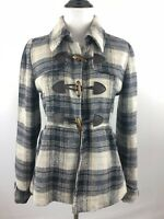 Charlotte Russe Womens Blue & White Plaid Jacket/ Coat | Size XS