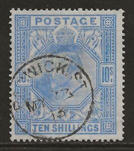 GB 1902 10/- ultra superb used BERWICK ST CDScancel/postmark SG#265 cat £500