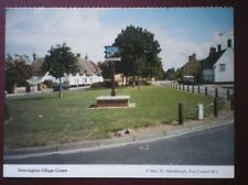 POSTCARD CAMBRIDGESHIRE WERRINGTON VILLAGE GREEN - VIEW OF SIGNPOST