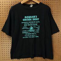 vtg 80s 90s usa made Bowlers Excuse t-shirt XL funny gift bowling boxy drape