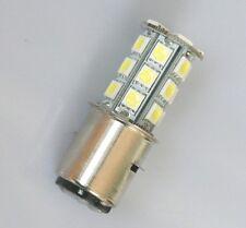 2pcs 6V-30V XENON WHITE BA20D H6 24 SMD LED Bulbs Motorcycle Motorbike US POST