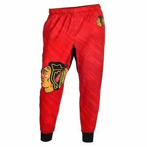 KLEW NHL Men's Chicago Blackhawks Polyester Jogger Pant