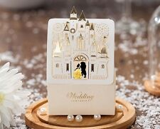 Fairytale castle wedding favor boxes Belle Beauty & Beast /Pkg 50pieces per set