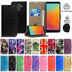 Case For Samsung Galaxy J2 J4 J5 J6 J7 J8 Leather Flip Wallet Phone Stand Cover