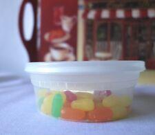 PLASTIC MICROWAVEABLE 8 oz DELI  FOOD STORAGE CONTAINERS 48 per package + lids