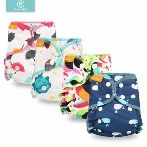 Fit 3-6KG Organic Cotton Cloth Diapers For Newborn Babies Nappies Absorbency Kit