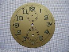 Cadran pendulette Zifferblatt ZENITH Clock montre dial réveil 69 mm horloger N3
